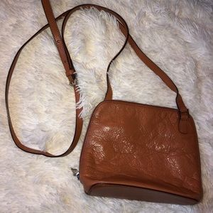Hobo mini crossbody camel brown leather